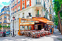 12 Street Cafe on Montmartre Paris 200